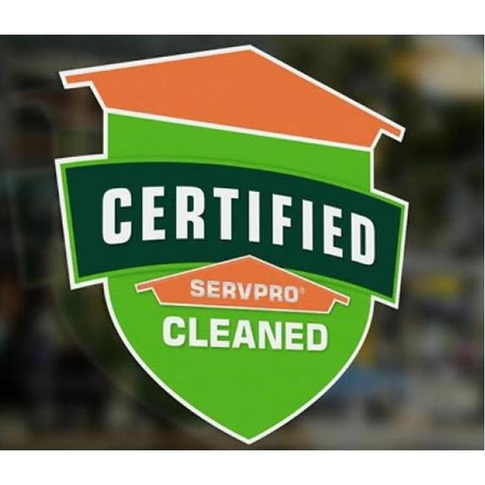 Certified: SERVPRO Cleaned seal